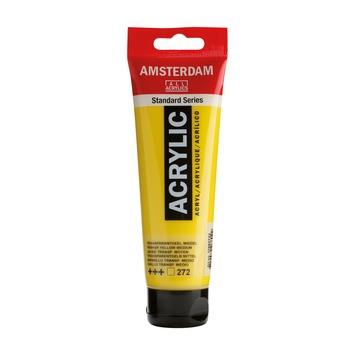 Amsterdam verf acrylverf geel middel 120ml