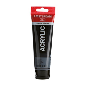 Amsterdam verf acrylverf lampenzwart 120 ml