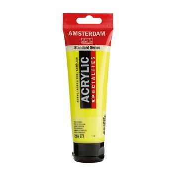 Amsterdam verf acrylverf reflexgeel tube 120ml