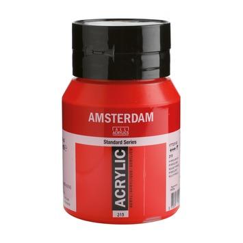 Amsterdam verf acrylverf pyrrolerood flacon 500ml