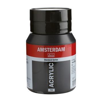 Amsterdam verf acrylverf lampenzwart flacon 500ml
