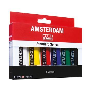 Amsterdam verf acryverf standaardset 6 x 20 ml