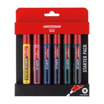 Amsterdam verf marker basisset 4 mm (6 stuks)
