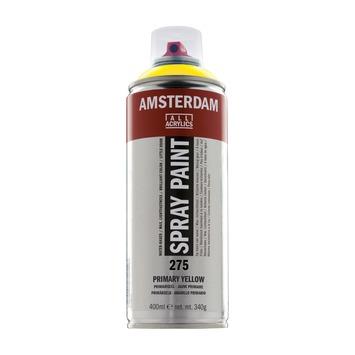 Amsterdam verf acrylverfspray primairgeel 400ml