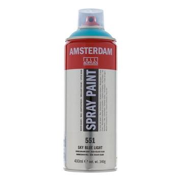 Amsterdam verf acrylverfspray hemelsblauw licht 400ml