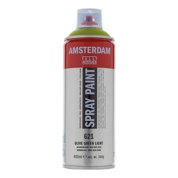Amsterdam verf acrylverfspray olijfgroen licht 400ml