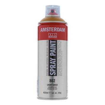 Amsterdam verf acrylverfspray lichtgoud 400ml