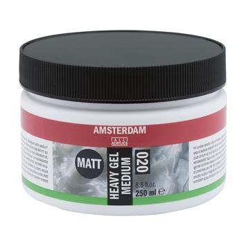 Amsterdam verf heavy gel medium mat 250ml