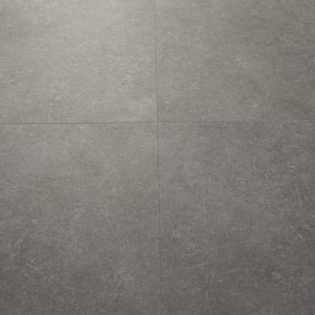 Le Noir et Blanc Dreamclick PVC Vloertegel Natuursteen Grijs 4V-groef 61x61 cm2,25 m2