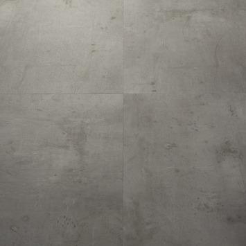 Le Noir et Blanc Dreamclick PVC Vloertegel Industrieel Grijs Beton 4V-groef 61x61 cm2,25 m2