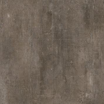 Le Noir et Blanc Dreamclick PVC Vloertegel Industrieel Antraciet Beton 4V-groef 61x61 cm2,25 m2