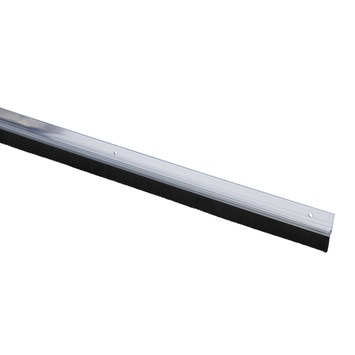 Handson tochtstrip wit kunststof 93 cm met zwarte borstel