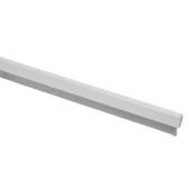 Handson tochtstrip aluminium 93 cm met flexibele borstel wit