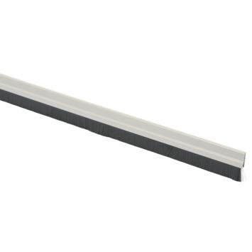 Handson tochtstrip wit aluminium 93 cm met zwarte borstel