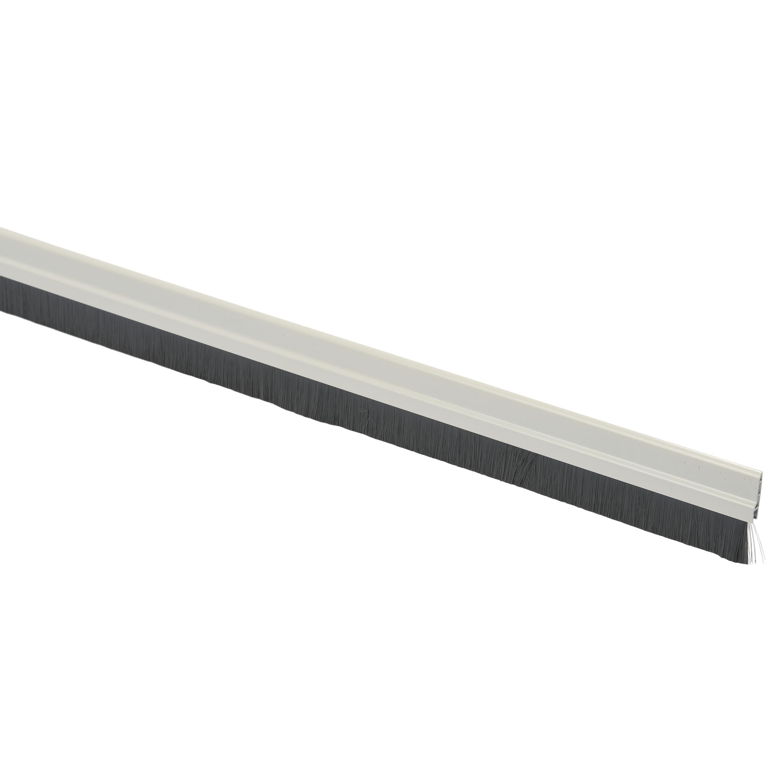 Handson tochtstrip aluminium 93 cm met borstel wit