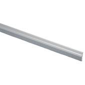 Handson tochtstrip aluminium 93 cm met borstel zilver