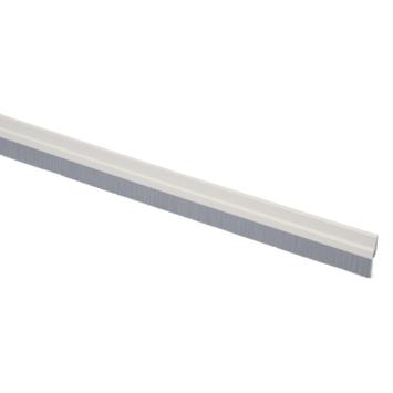 Handson tochtstrip wit aluminium 93 cm met grijze borstel