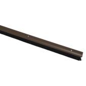 Handson tochtstrip kunststof 93 cm met borstel bruin