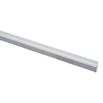 Handson tochtstrip wit kunststof 93 cm met grijze borstel