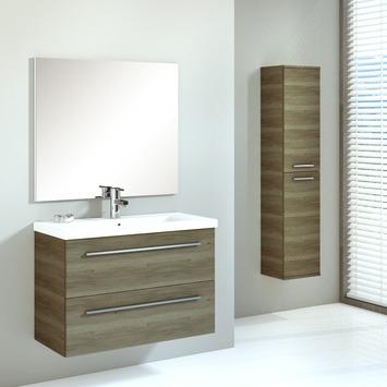 Handson Hera badkamermeubel 80 cm hout met spiegel en kolomkast ...