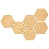 Hexagram muurdecoratie set van 6