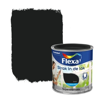 Flexa Strak in de Lak zijdeglans zwart 250 ml