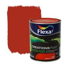 Flexa Creations muurverf extra mat vibrant red 1 l