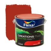 Flexa Creations muurverf extra mat vibrant red 2,5 l