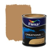 Flexa Creations lak zijdeglans caramel fudge 750 ml