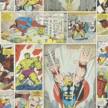 Papierbehang marvel stripboeken multicolour (dessin 70-264)