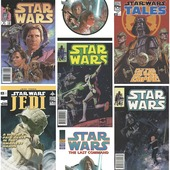 Papierbehang star wars filmposters multicolour (dessin 70-454)
