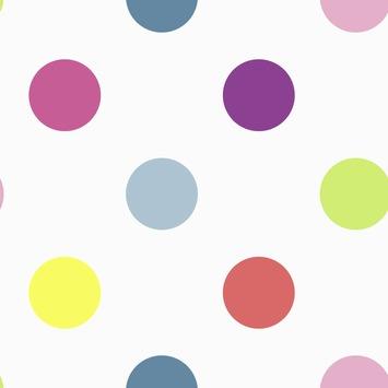 Vliesbehang stippen multicolour (dessin 100103)