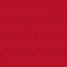 Papierbehang cars lijntekening rood (dessin df31999)