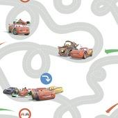 Papierbehang cars racebaan multicolour (dessin df72599)