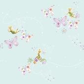 Papierbehang tinkerbell elfenstof multicolour (dessin df72499)