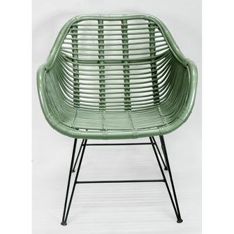 Stoel joris groen tuinstoelen tuinmeubelen tuin karwei for Groene stoel