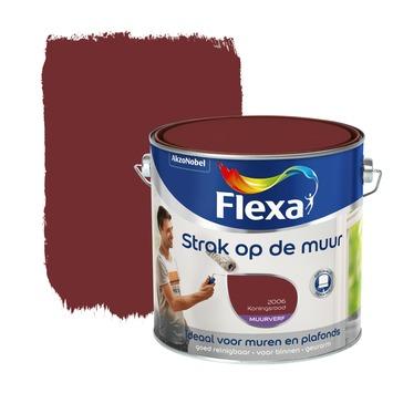 Flexa Strak op de Muur muurverf konings rood 2,5 l