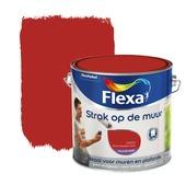 Flexa Strak op de Muur muurverf brandweer rood 2,5 l