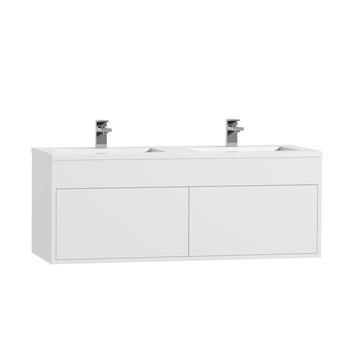 Tiger Helsinki badkamermeubel 120 cm hoogglans wit met wastafel polybeton hoogglans wit