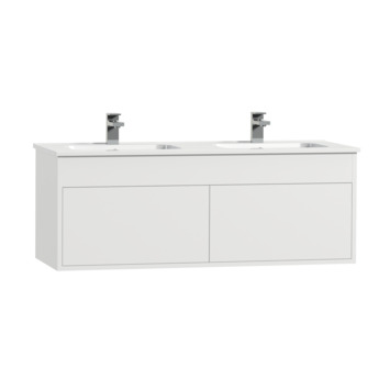 Tiger Helsinki badkamermeubel 120 cm hoogglans wit met wastafel keramiek hoogglans wit