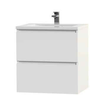 Tiger Karlo badkamermeubel 60 cm hoogglans wit met wastafel hoogglans wit