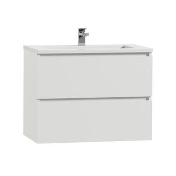 Tiger Karlo badkamermeubel 80 cm hoogglans wit met wastafel hoogglans wit