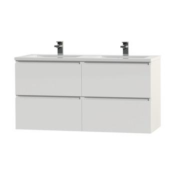 Tiger Karlo badkamermeubel 120 cm hoogglans wit met wastafel hoogglans wit