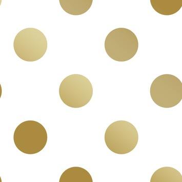 Vliesbehang stippen goud (dessin 100105)