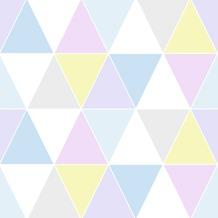 Vliesbehang driehoeken pastel kleuren (dessin 100107)