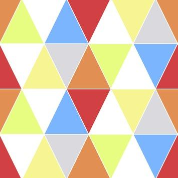 Vliesbehang driehoeken multicolour (dessin 100106)