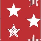 Vliesbehang superster rood (dessin 100108)