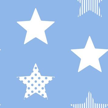 Vliesbehang superster blauw (dessin 100109)