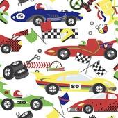 Vliesbehang race auto's multicolour (dessin 100117)