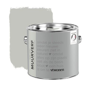 vtwonen krijt mat muurverf light grey 2,5 l